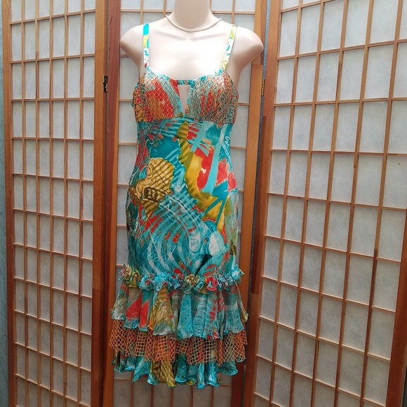 Diane Fres Dresses & Skirts - One-of-kind stunning Tropical dress  Sz 8